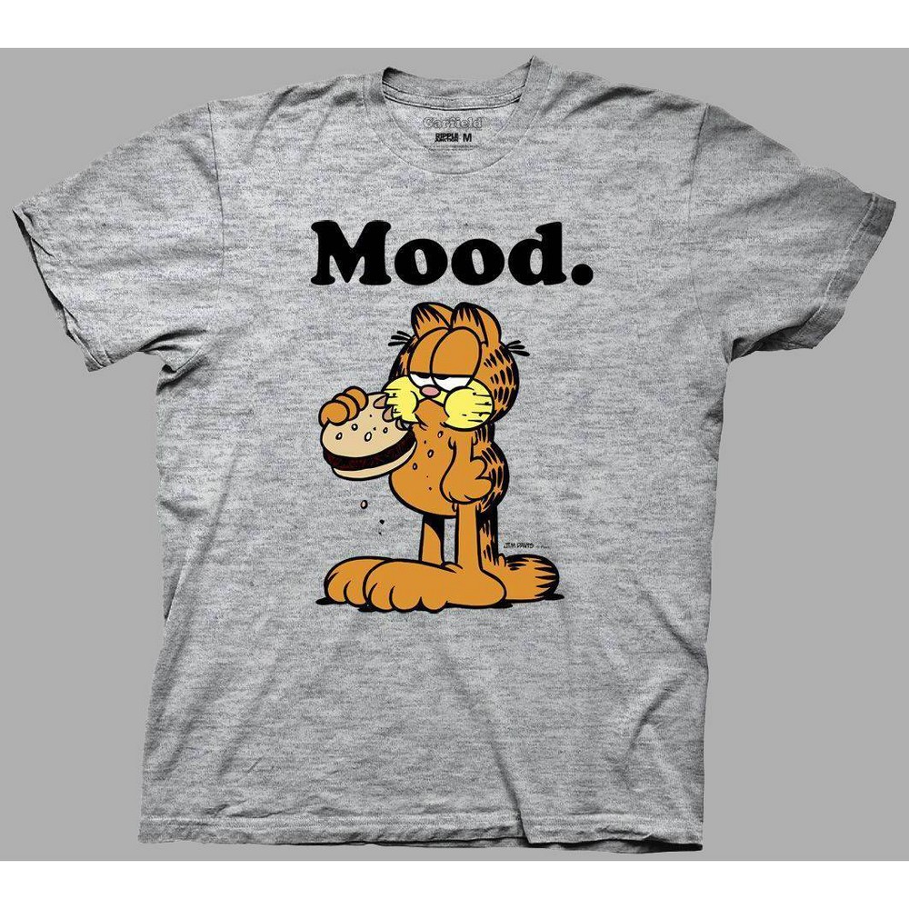 Image of Men's Garfield Mood Short Sleeve Graphic T-Shirt - Heather Gray L, Men's, Size: Large