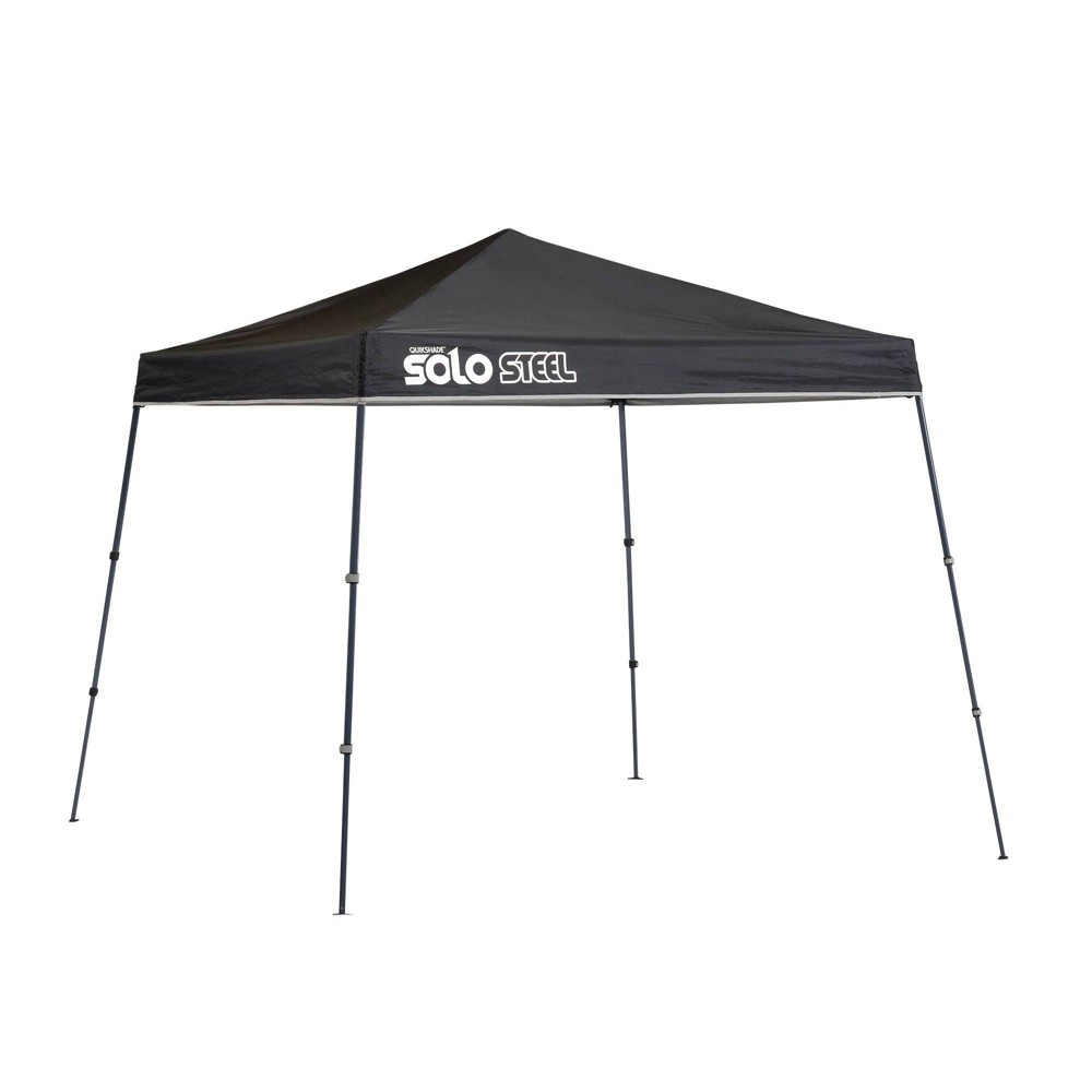 Image of Quik Shade Solo Steel 9x9 Slant Leg Canopy - Black