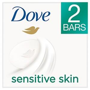 Dove Sensitive Skin Beauty Bar 4 oz, 2 Bar