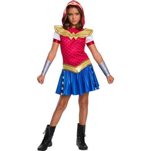 DC Super Hero Girls' Wonder Woman Hoodie Dress Halloween Costume - Rubie's - image 1 of 1