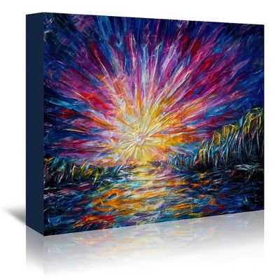 Americanflat Sunlight Van Goghs Style Painting by Olena Art Wrapped Canvas