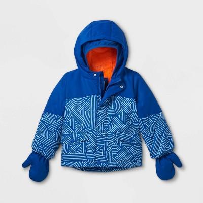 Toddler Boys' Striped Ski Jacket - Cat & Jack™ Blue