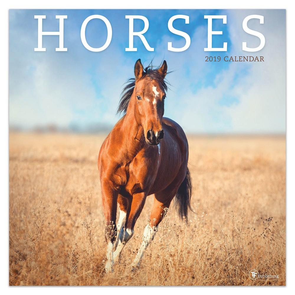 2019 Wall Calendar Horses - TF Publishing, 2019 Tf Publishing Horses Wall Calendar