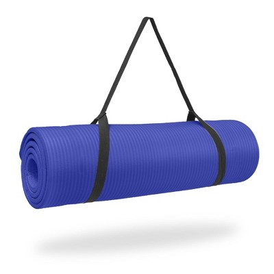 Pure Fitness Deluxe Yoga Mat - Iris Blue (12mm)