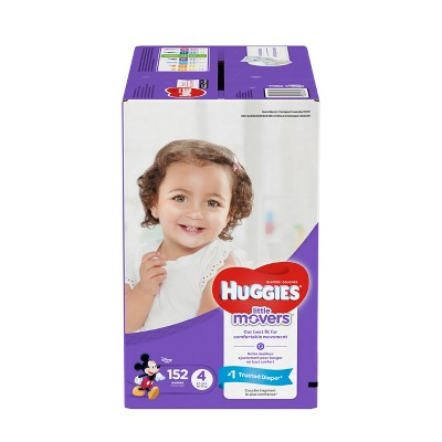Huggies Little Movers Diapers - Size 4 (152ct)