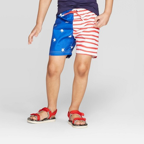7a765b5b1c Toddler Boys' Flag Swim Trunks - Cat & Jack™ Red 2T : Target