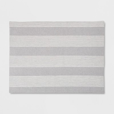 19 x14  Stripe Placemat Gray - Threshold™
