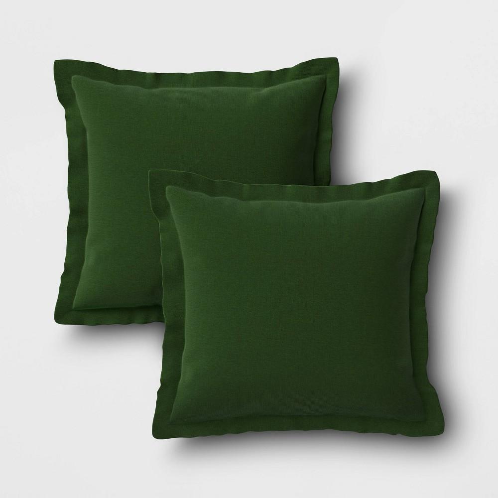 Image of 2pk Outdoor Throw Pillows DuraSeason Fabric Forest - Threshold
