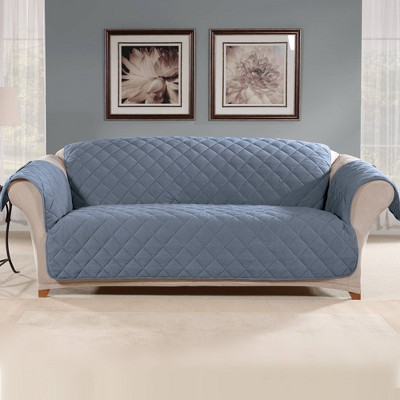 Suede Microfiber Sofa Furniture Protector Cover - Sure Fit