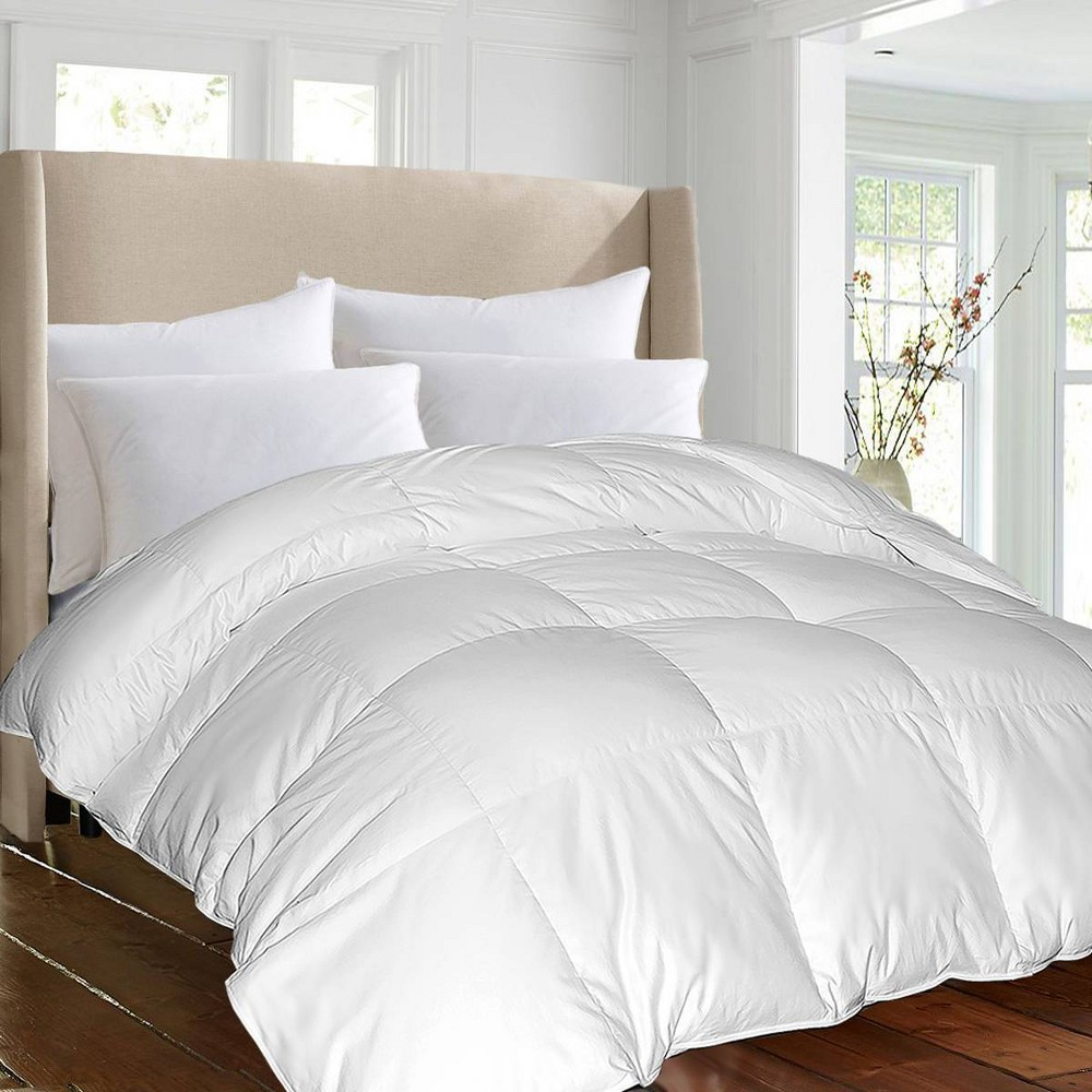 Image of Full/Queen 1000 Thread Count PIMA Cotton Down Alternative Comforter White - Blue Ridge Home Fashions
