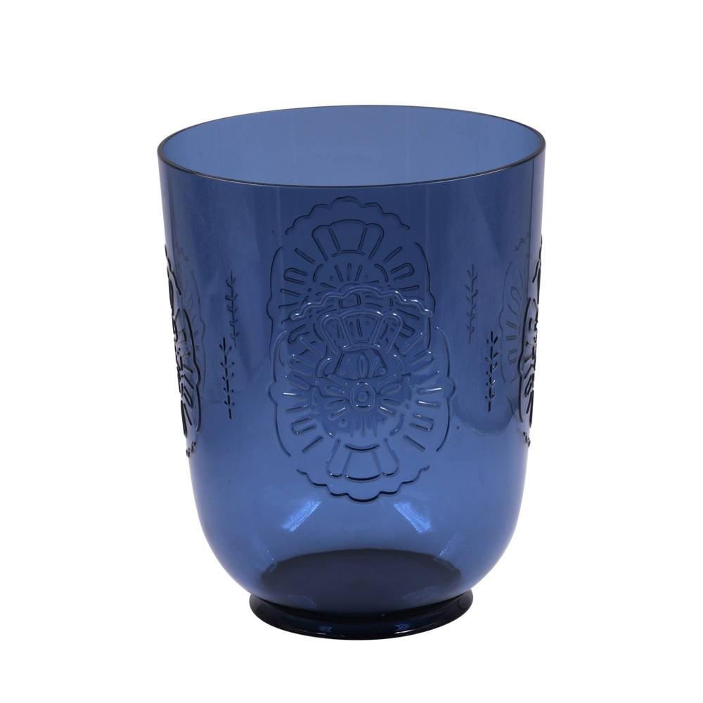 Image of Bathroom Wastebasket Fiesta Navy - Opalhouse , Blue