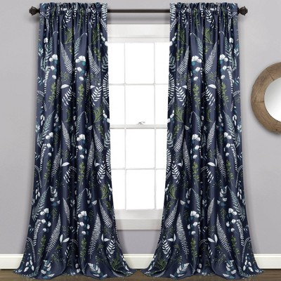Set of 2 Devonia Allover Room Darkening Window Curtain Panels - Lush Décor