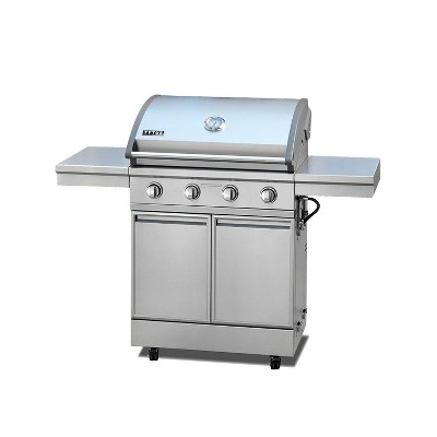 TYTUS 4 Burner Cart Gas Grill T-406-SS-LP Stainless Steel