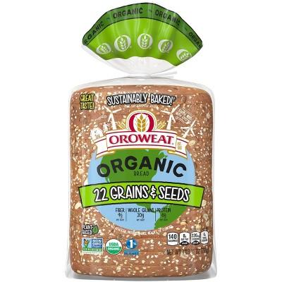 Oroweat Organic 22 Grains & Seeds Bread - 27oz