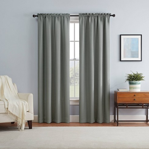 Braxton Thermaback Blackout Curtain Panel - Eclipse - image 1 of 4