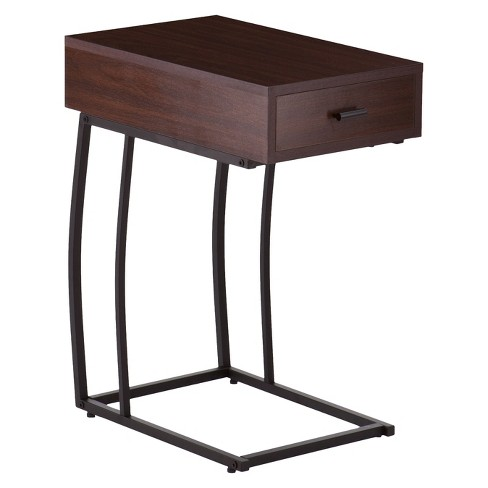 Side Table with USB Brown - Aiden Lane - image 1 of 2