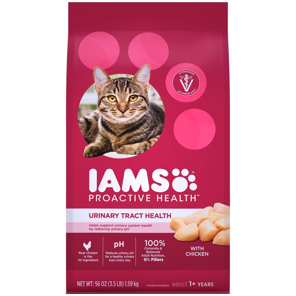 Iams Proactive Health Urinary Tract Health With Chicken Adult Premium Dry Cat Food 3lbs