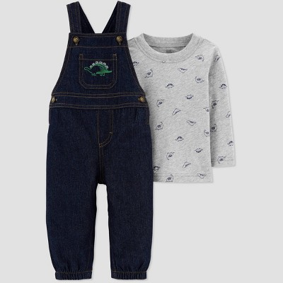 Baby Boys' Dino Top & Bottom Set - Just One You® made by carter's Gray/Blue Newborn