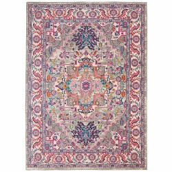 "Nourison Passion PSN20 Light Grey/Pink Area Rug 5'3"" x 7'3"""