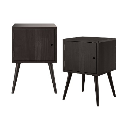 Set of 2 Rhodes Square End Tables with Doors - Handy Living