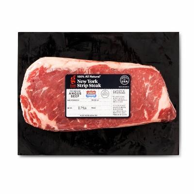 USDA Choice New York Strip Steak - 0.65-1.2 lbs - price per lb - Good & Gather™