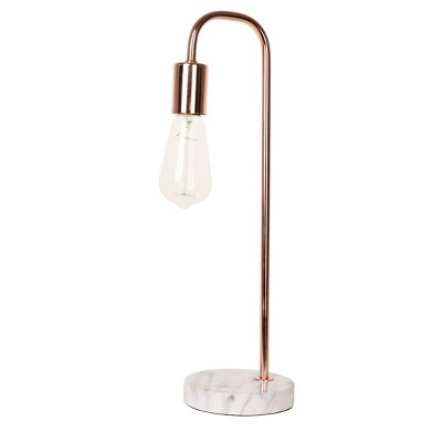 """19"""" Faux Marble Table Lamp Gold - Cresswell Lighting"""