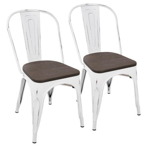 Set of 2 Oregon Industrial Dining Chairs - LumiSource - image 1 of 8