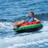 Swimline Watermelon Inflatable Single Rider Lake Ocean Water Towable Tube Float - image 3 of 4