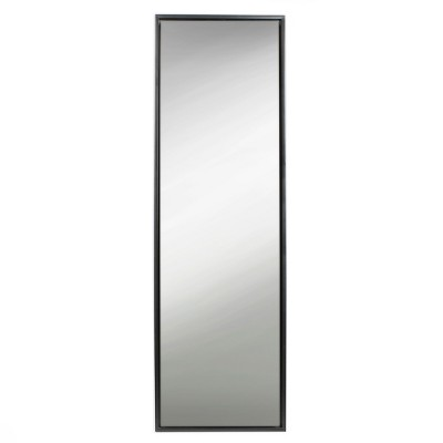 "18"" x 58"" Evans Free Standing Floor Mirror with Easel Black - Kate and Laurel"