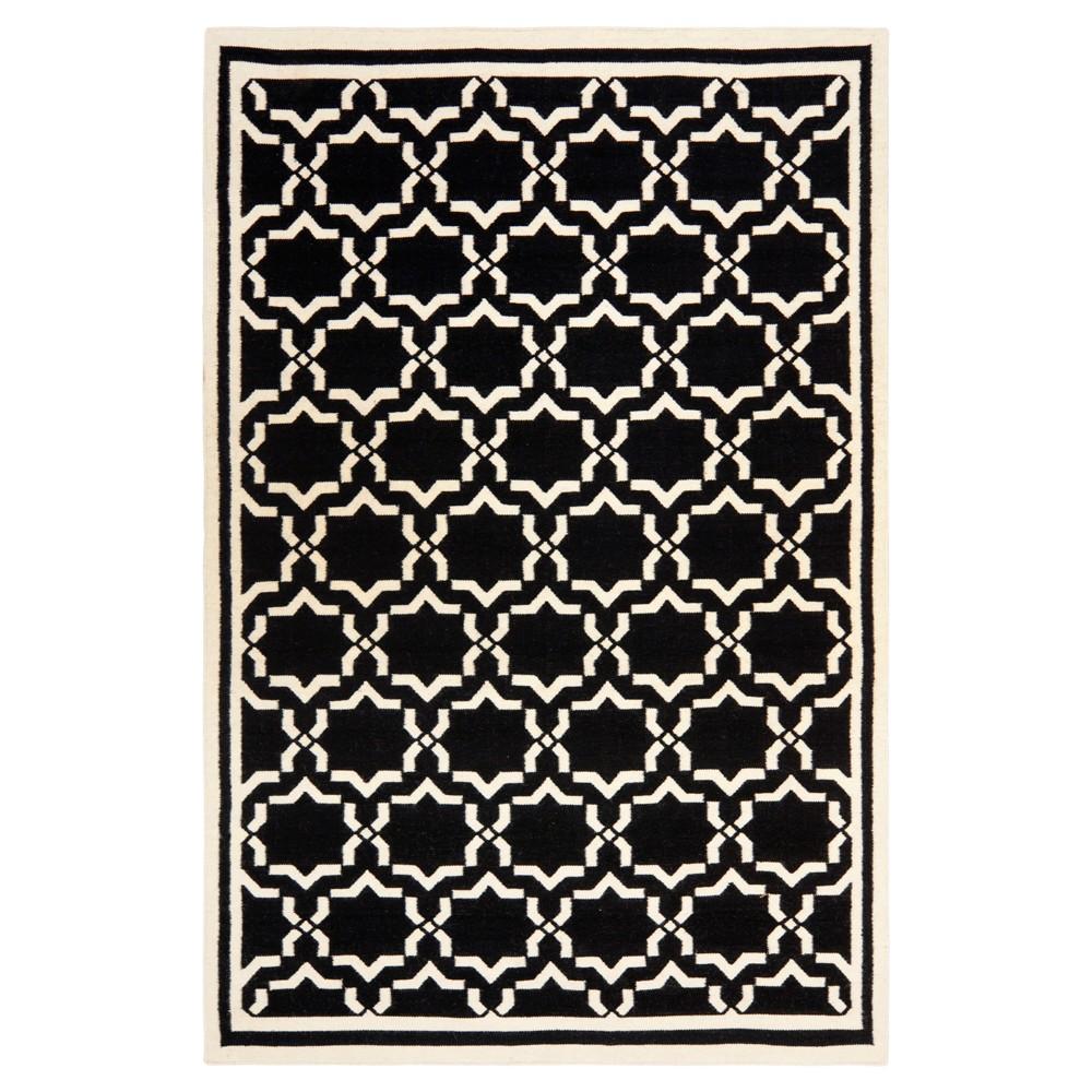 Casablanca Dhurry Rug - Black/Ivory - (4'x6') - Safavieh
