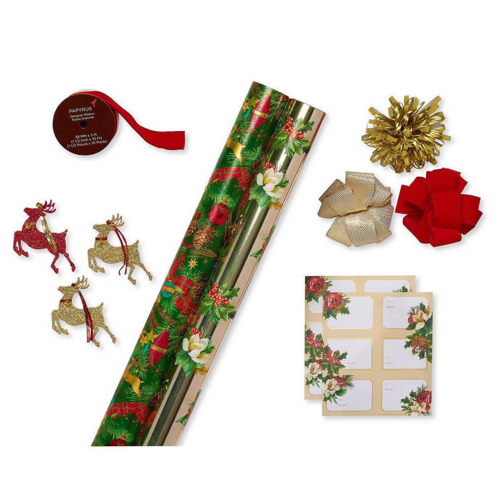 Image of Papyrus Bows And Gift Tags Gift Wrap Accessories, Red