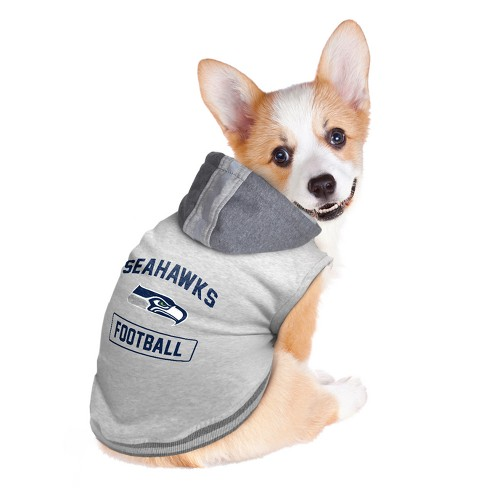 123ad9832 Seattle Seahawks Little Earth Pet Hooded Crewneck Football Shirt ...