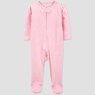 Baby Girls' Pig House Sleep 'N Play One Piece Pajama - Just One You® made by carter's Pink 9M