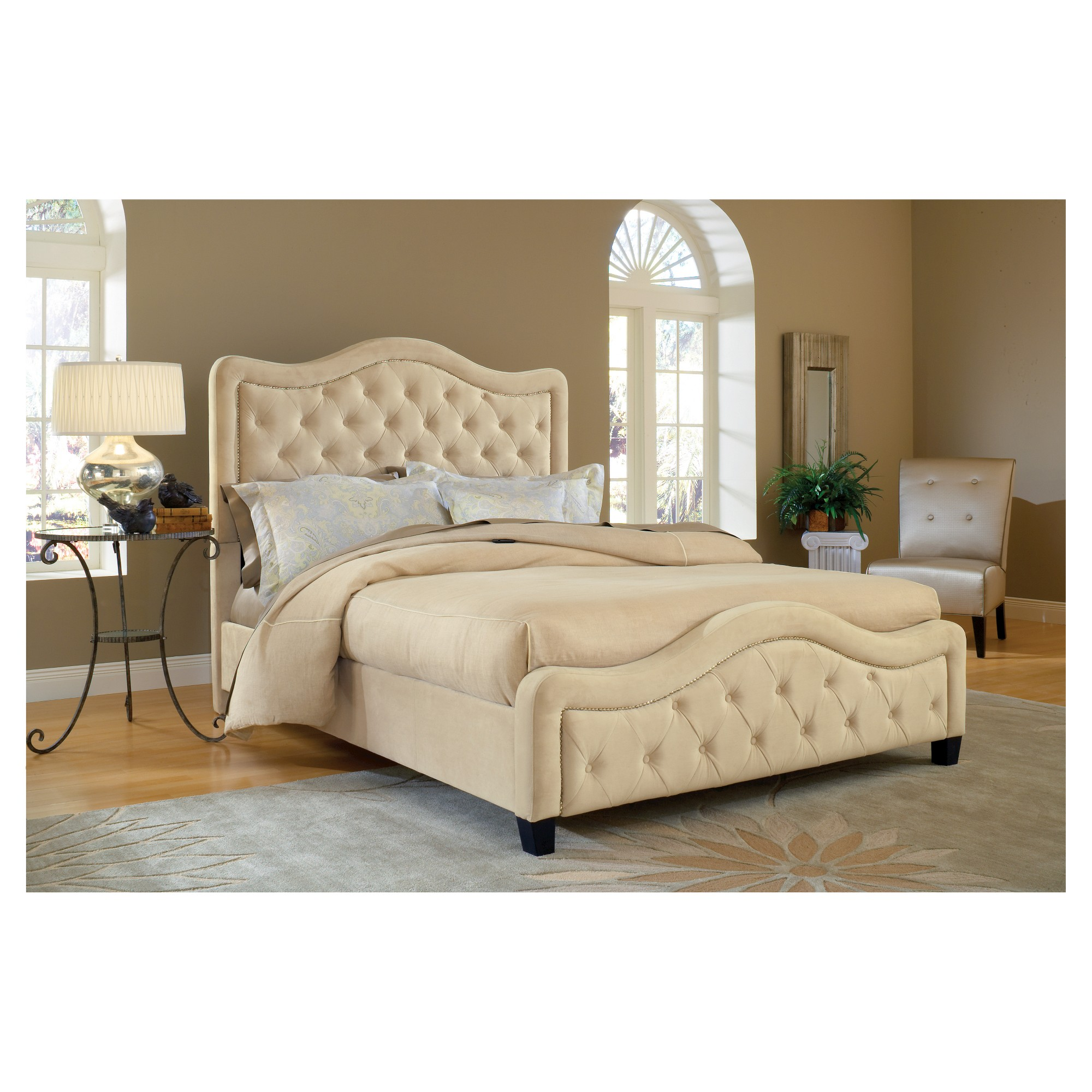 Trieste Bed - Queen - with Rails - Buckwheat - Hillsdale Furniture