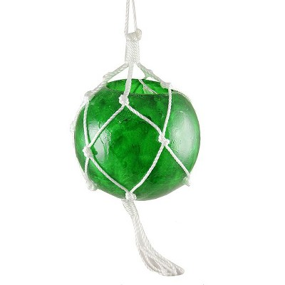 Barcana Ball Macrame Wrapped Outdoor Lighted Christmas Decoration Clear - White Wire