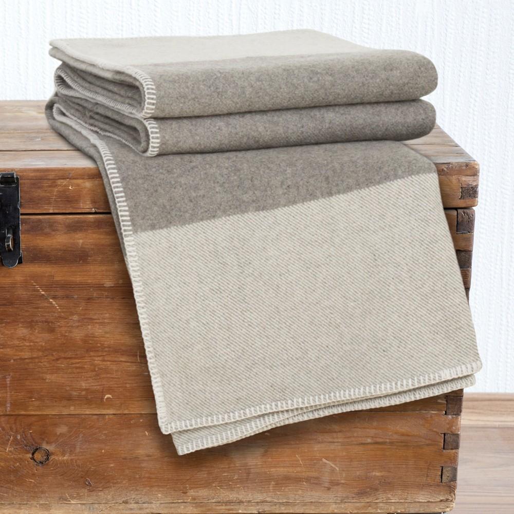 Image of 100% Australian Wool Blanket (Full/Queen) Platinum - Yorkshire Home, Gray