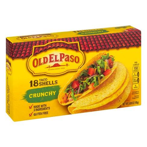 Old El Paso Gluten Free Crunchy Taco Shells - 6.89/18ct - image 1 of 3