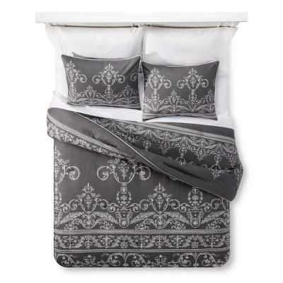 Dark Gray Vintage Gate Comforter Set (Queen)3pc - The Industrial Shop™