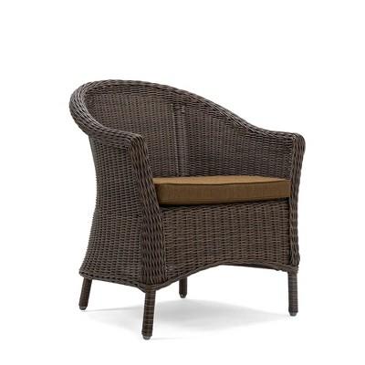 Cumberland 2pc Dining Chair Set Cafe Brown Frame Spectrum Caribou Mocha Fabric - La-Z-Boy