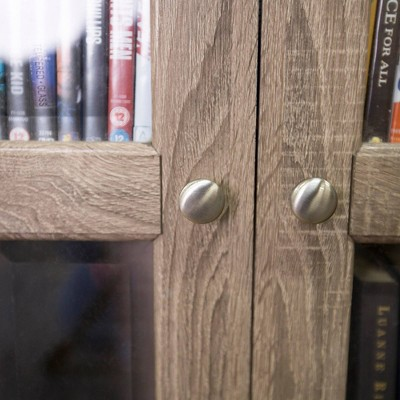 "41"" Wood Media Storage Tower Cabinet - Saracina Home : Target"