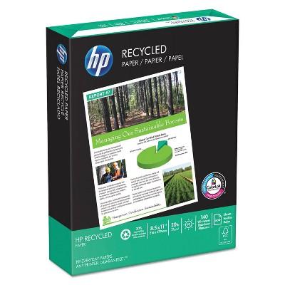 HP Office Recycled Paper 92 Brightness 20lb 8-1/2 x 11 White 5000 Shts/Ctn 112100