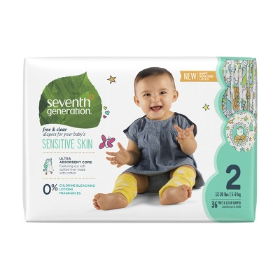 Seventh Generation™ Free & Clear Diapers Size 2 - 36ct
