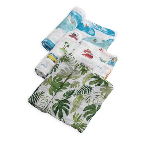 Little Unicorn Cotton Muslin Swaddle Blankets - 3pk Summer Vibe - image 1 of 4