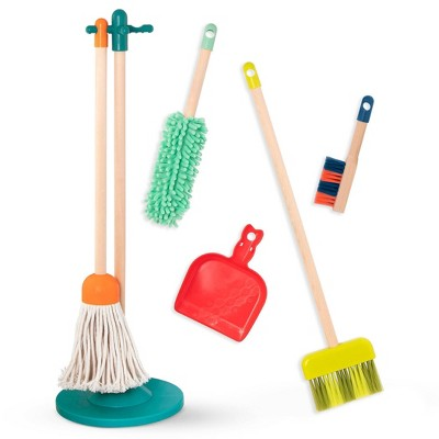 B. toys Wooden Cleaning Toys Clean 'n' Play