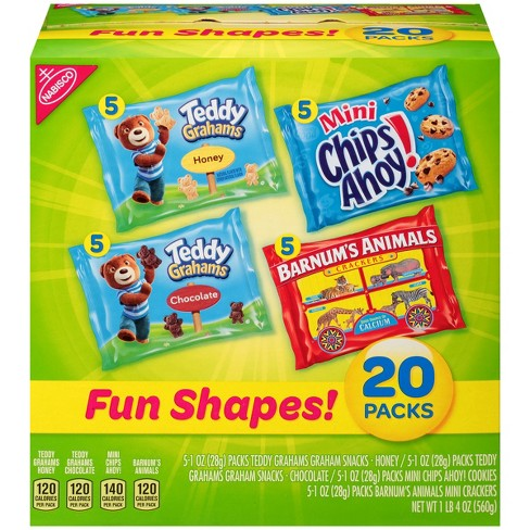 Nabisco Fun Shapes Cookies & Crackers Mix - 20ct/1oz - image 1 of 3