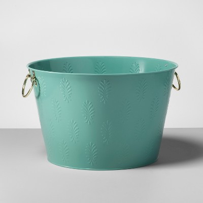 Steel Beverage Tub with Handles 6gal Green - Opalhouse™