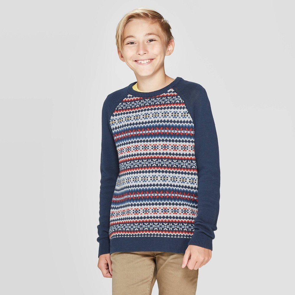 Image of Boys' Pullover Sweater - Cat & Jack Navy XS, Boy's, Blue