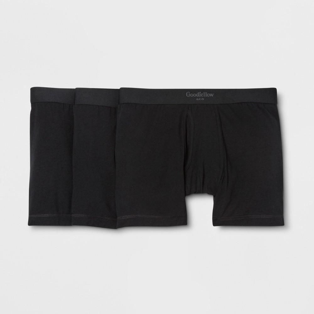 Men's Premium Knit 3pk Boxer Briefs - Goodfellow & Co Black L, Size: Large was $18.99 now $9.99 (47.0% off)
