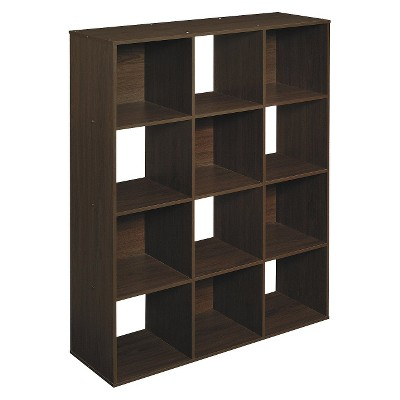 ClosetMaid Cubeicals 12 Cube Organizer Shelf   Espresso