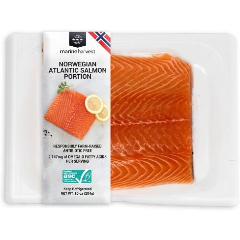 Marine Harvest Farmed Atlantic Salmon Portion Plain - 10oz - image 1 of 1
